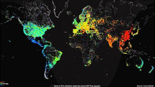 internet usage map