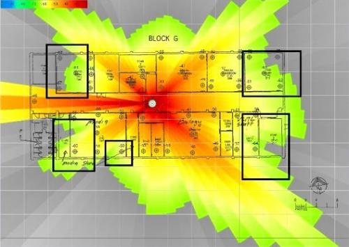 modem heatmap offices